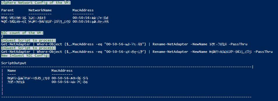 VM und OS Netzwerknamen angleichen