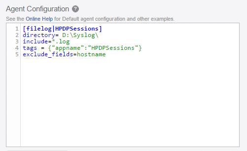 vRealize Log Insight integration - Agent Configuration