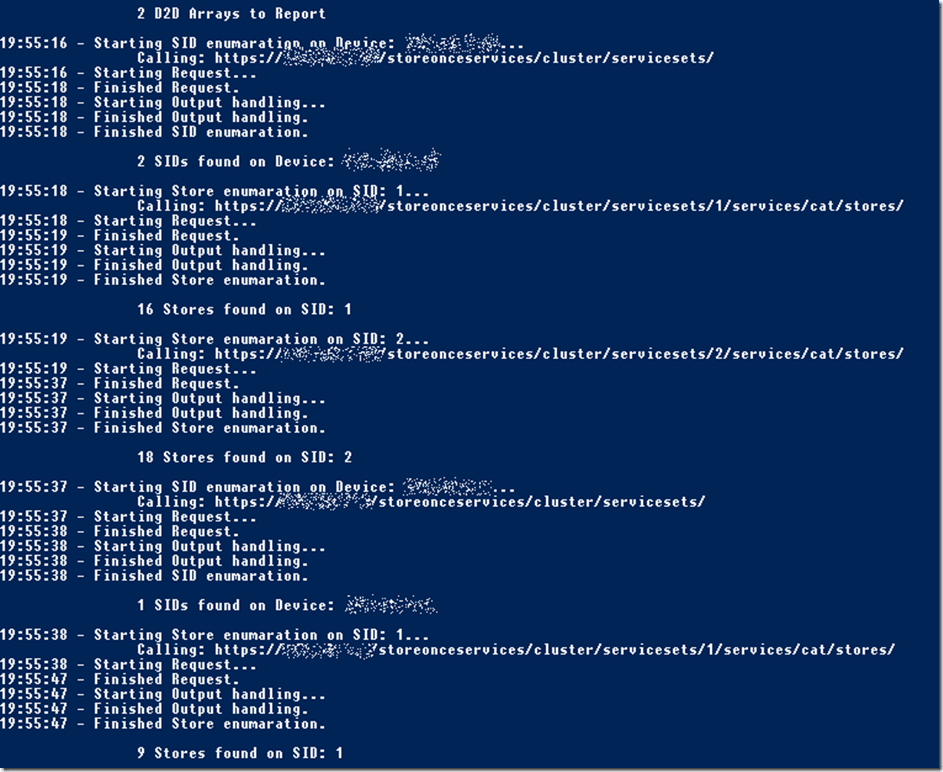 StoreOnce Reporting mit Powershell - Logging