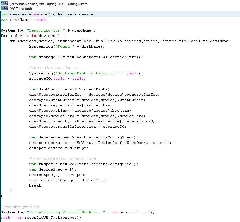 vDisk IOPS Limits vCO Disk Options