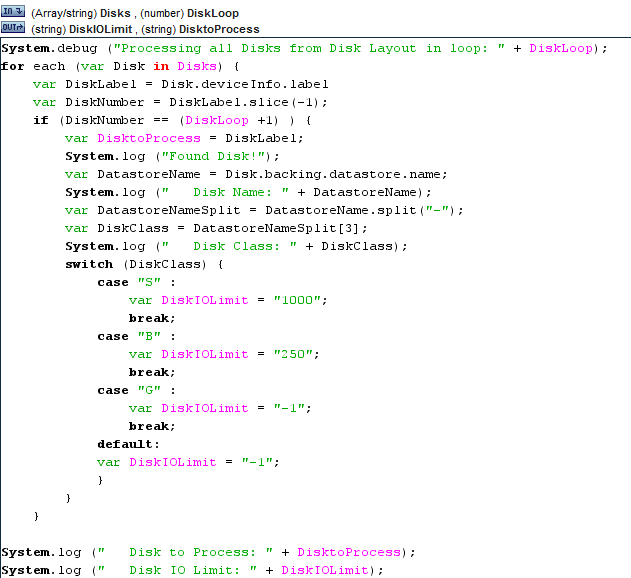 vDisk IOPS Limits Workflow Script Set