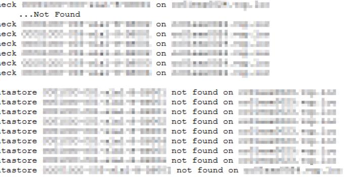 Alle Datastores verbunden