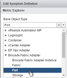 Brocade Port Alerts - Select Base Object