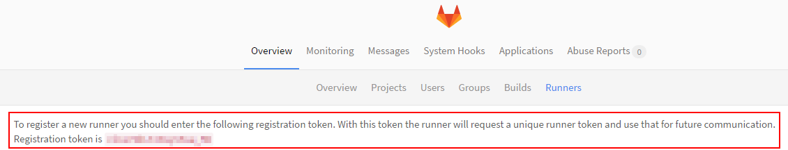 GitLab Runner - Token