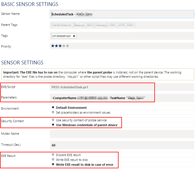 Scheduled Task Sensor - Setup