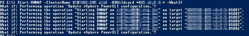 PowerCLI SCSI UNMAP Funktion -WhatIf