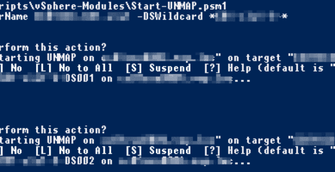 PowerCLI SCSI UNMAP Funktion