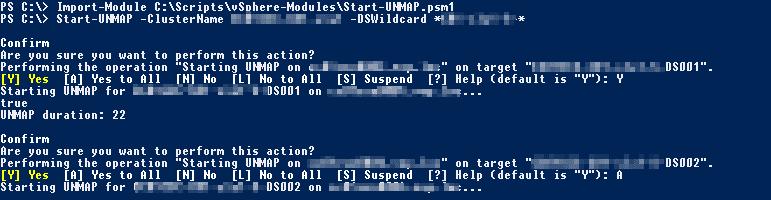 PowerCLI SCSI UNMAP Funktion
