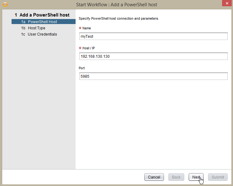 Windows Server 2016 PowerShell Host - add pshost - host details