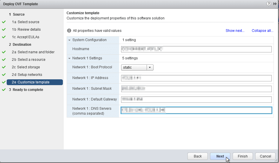 HPE OneView for VMware vCenter 8.0 Migration - Network Details