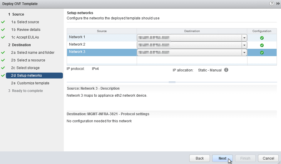 HPE OneView for VMware vCenter 8.0 Migration - Appliance Network