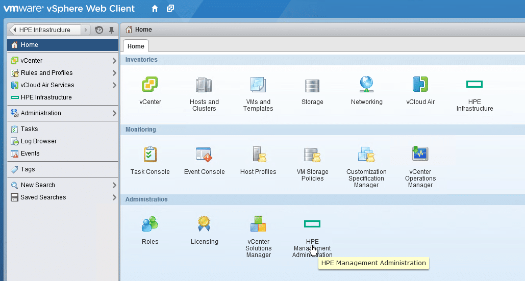 HPE OneView for VMware vCenter 8.0 Migration - Configuration