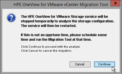 HPE OneView for VMware vCenter 8.0 Migration - Stop Service