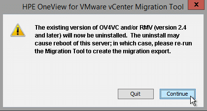 HPE OneView for VMware vCenter 8.0 Migration - Uninstall