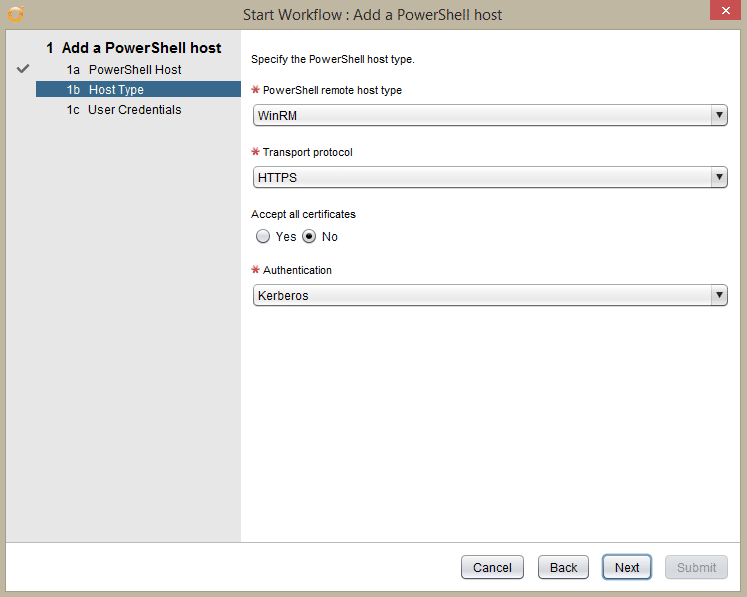 Windows Server 2016 PowerShell Host - secure add pshost - host type