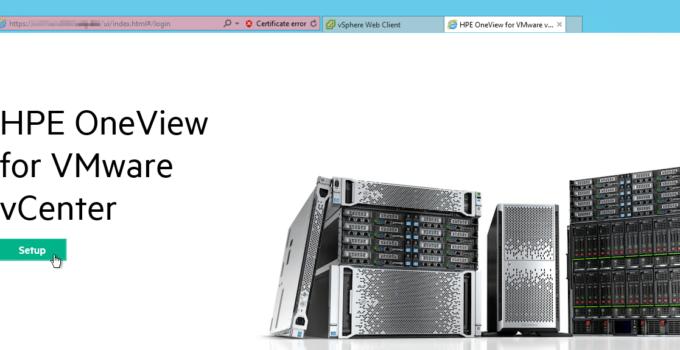 HPE OneView for VMware vCenter - Setup