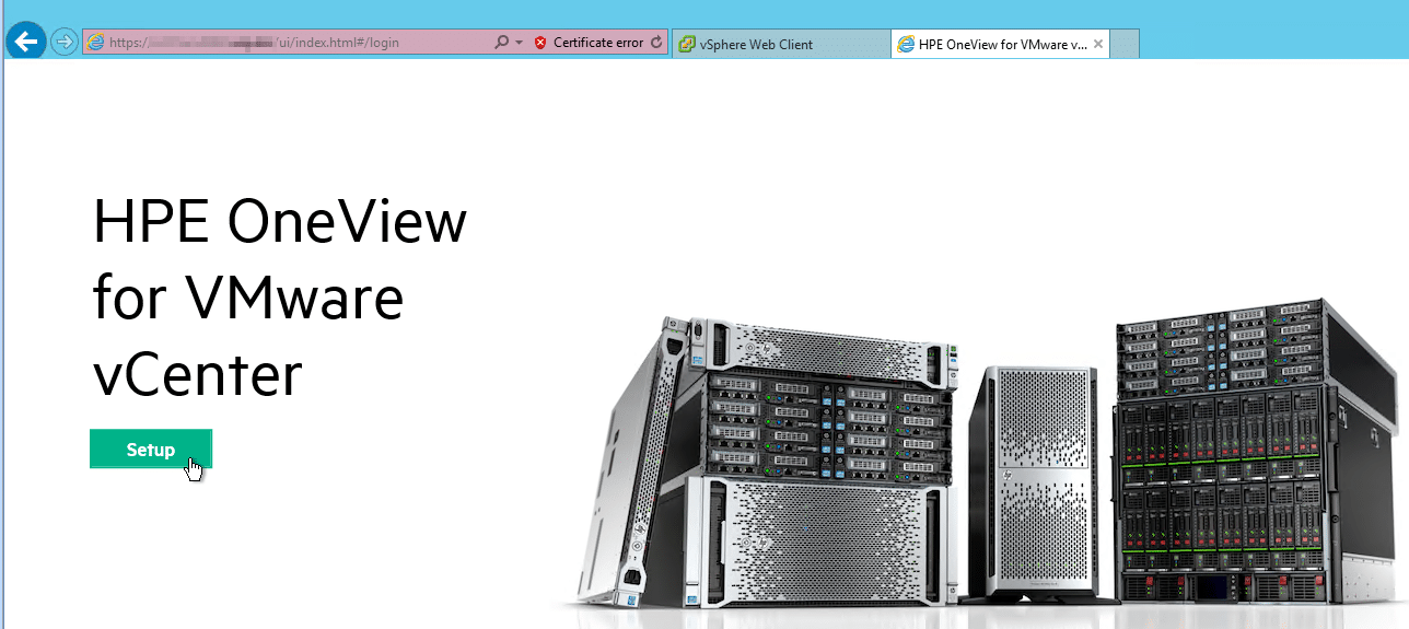 HPE OneView for VMware vCenter 8.0 Migration - Setup Wizard