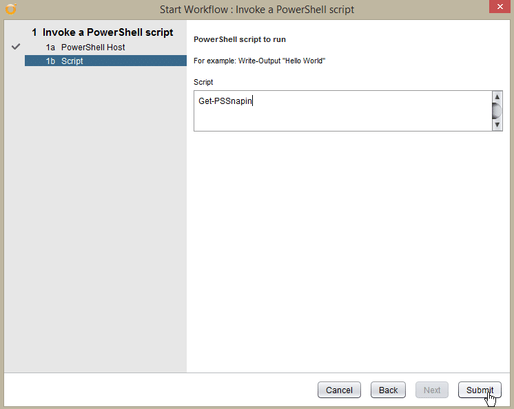 Windows Server 2016 PowerShell Host - test pshost - script