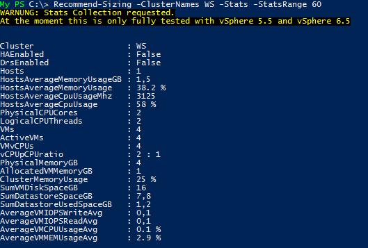 VMware vSphere Sizing Script v1.2