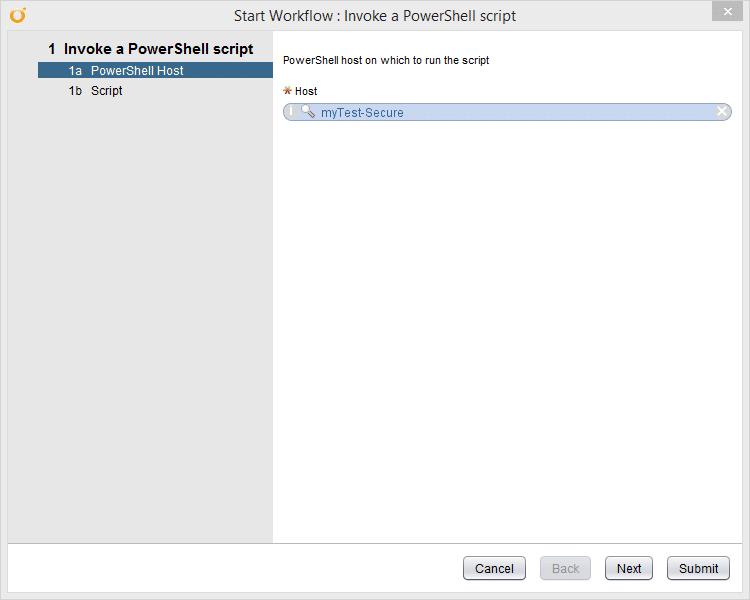 vRealize Orchestrator PowerShell Host - invoke a powershell script - Host