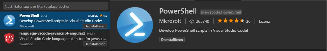 PowerShell Module mit Visual Studio Code - extension powershell