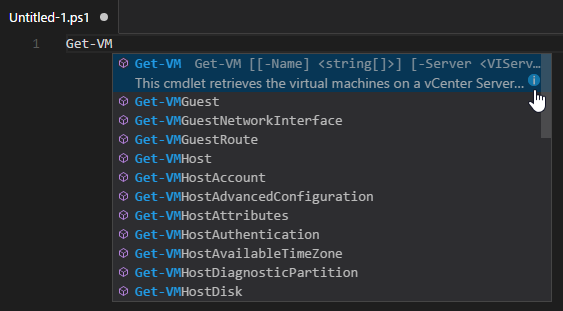 PowerShell Module mit Visual Studio Code - intellisense