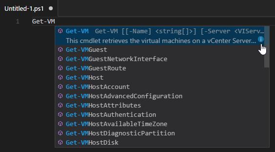 PowerShell Module mit Visual Studio Code - intellisense