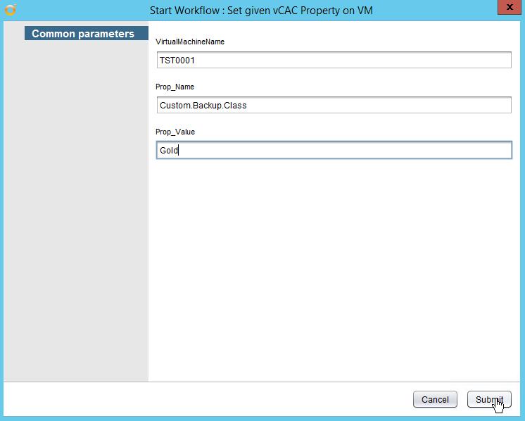 vRealize Automation Property setzen - Workflow Rrun