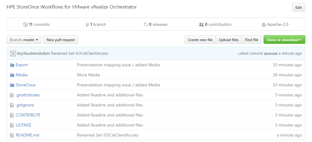 StoreOnce Orchestrator Workflows auf GitHub