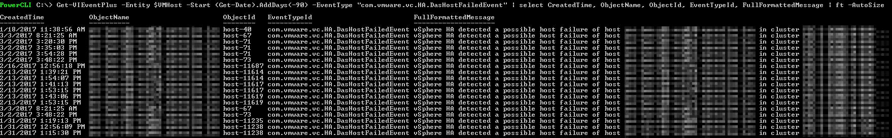 PowerCLI - vSphere HA isolation Events