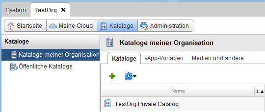 vCloud Director Customer Provisioning - Catalog