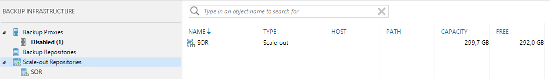 Veeam Self-Service Backup Portal - Scale-Out Repository