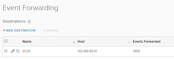 vCloud Director Edge Gateway Syslog Events - Event Forwarding