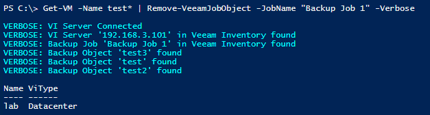 Veeam vSphere Interactions - Remove-VeeamJobObject