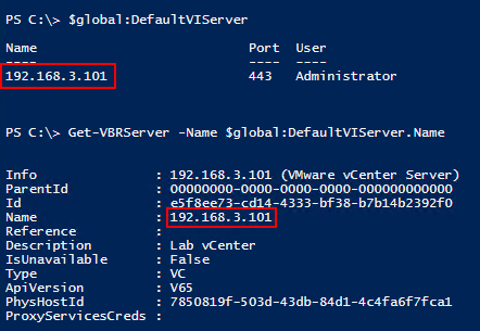 Veeam vSphere Interactions - vCenter Connection