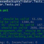 Veeam Backup Validator Pester Test