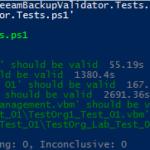 Veeam Backup Validator Pester Test
