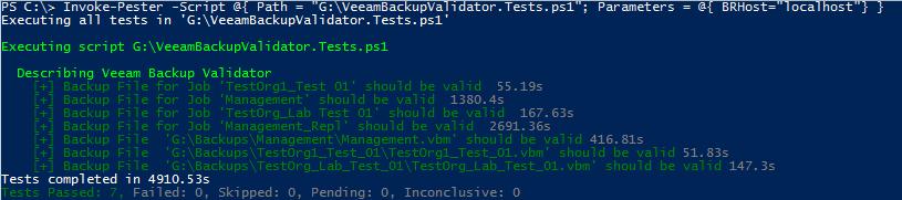 Veeam Backup Validator PowerShell Pester Test