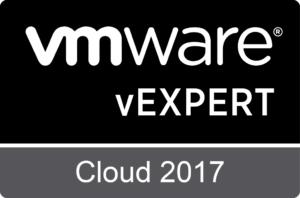 VMware vExpert Cloud 2017