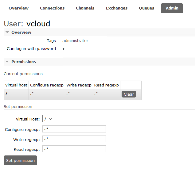 vRealize Operations Tenant App for vCloud Director - AMQP user permissions in UI