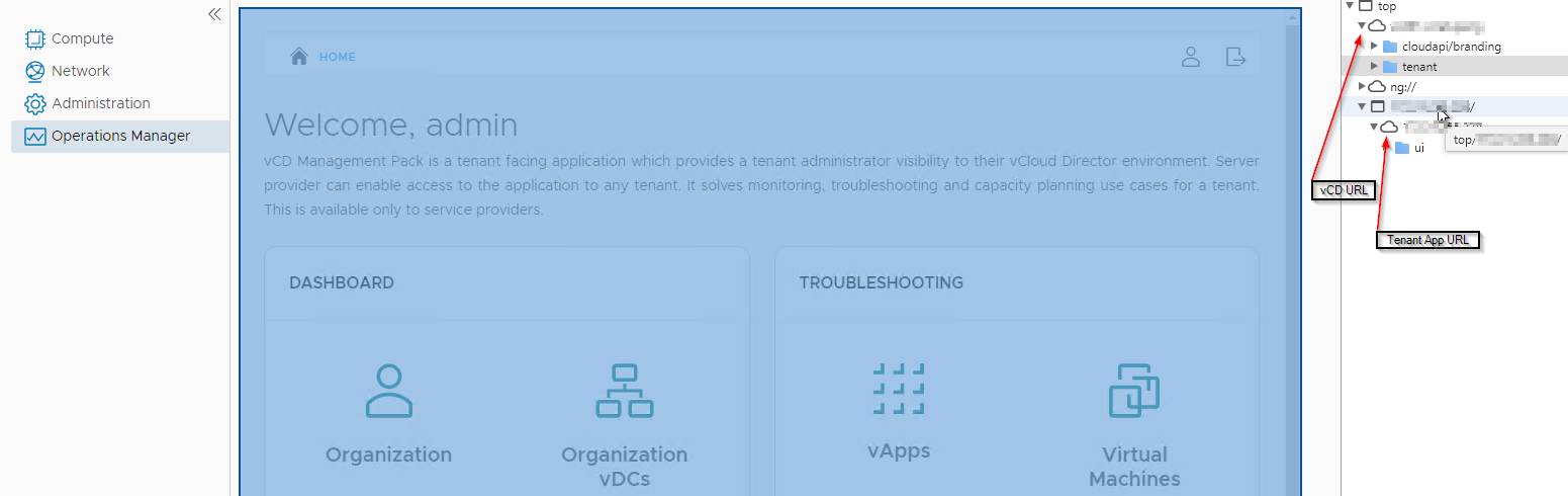 vRealize Operations Tenant App for vCloud Director - browser sources