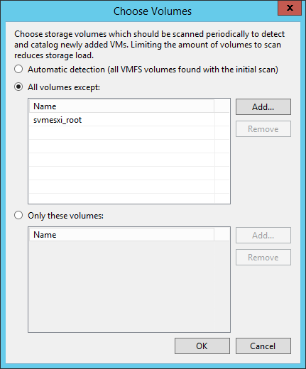 Veeam NetApp Backup from Storage Snapshot - NetApp Volume Filter