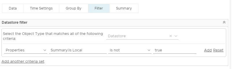 vRealize Operations Manager - Datastore Overprovisioning - Custom View Filter