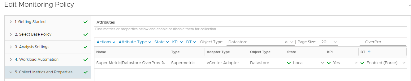 vRealize Operations Manager - Datastore Overprovisioning - Super Metric Collection