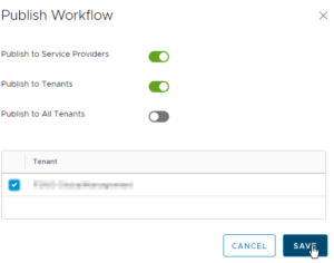vCloud Director and vRealize Orchestrator Connection - vCD publish Workflow