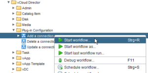vCloud Director and vRealize Orchestrator Connection - vRO add vCD instance