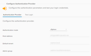 vCloud Director and vRealize Orchestrator Connection - vRO Authentication Provider