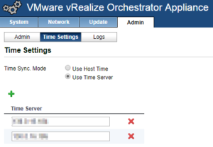 vCloud Director and vRealize Orchestrator Connection - vRO Time Settings