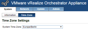 vCloud Director and vRealize Orchestrator Connection - vRO Time Zone