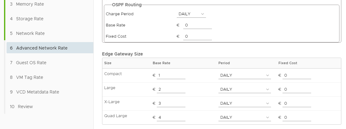 vRealize Operations Tenant App 2.0 for vCloud Director - Pricing Options - Edge Gateway Size